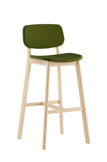 Grand Rapids Chair Company - Brooke Stool with Upholstered Seat and Back
