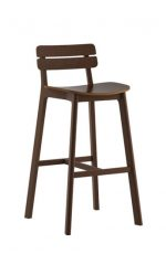 Grand Rapids Chair Company - Brooke Wooden Stool with Short Backrest