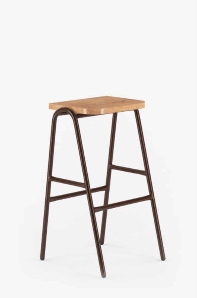 Hurdle Modern Minimal Backless Counter Stool Multiple