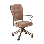 Valencia Dining Chair with Tufted Backrest and Arms