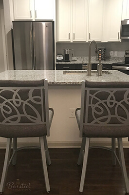 Trica's Swirl Bar Stools in Modern Kitchen