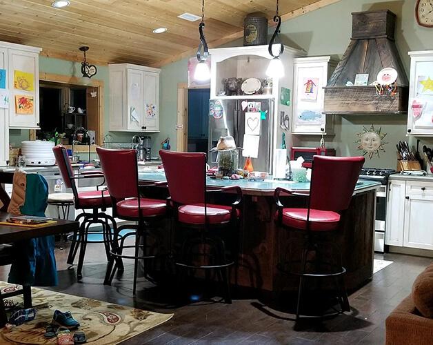 Lisa Furniture #2545 - Rocking Tilt Swivel Bar Stool