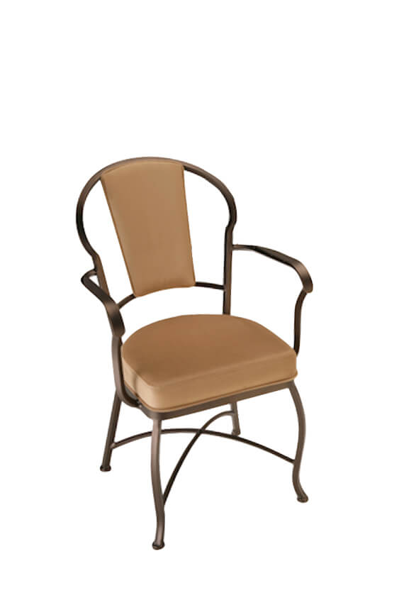 Charleston Dining Chair with High Back and Arms