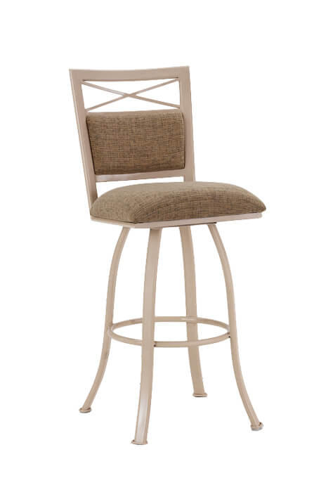 Callee's Denver Swivel Bar Stool with Upholstered Back and Seat