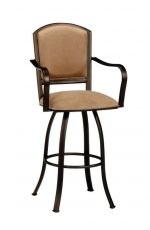 Callee's Dunhill Swivel Metal Bar Stool with Arms