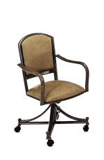Callee's Dunhill Tilt Swivel Dining Chair with Arms and Upholstered Back and Seat