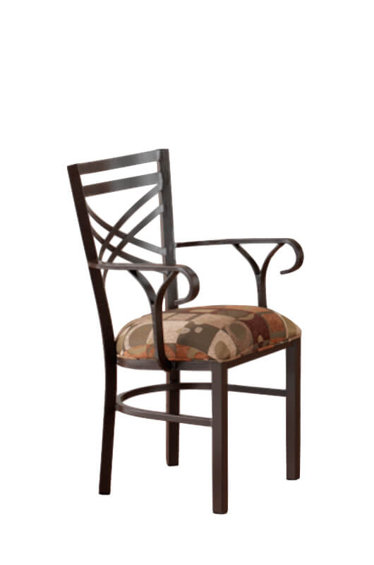 Callee's Rebecca Dining Chair with Cross Back Design and Arms