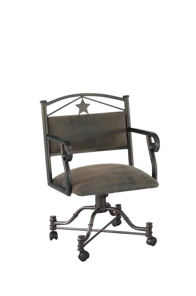 Texas Tilt Swivel Dining Chair with Arms