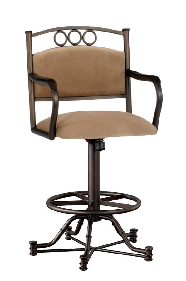 Winford Tilt Swivel Stool with Arms