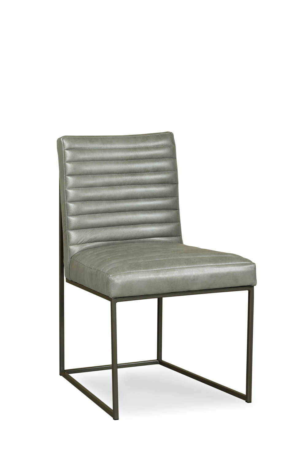 Fairfield Chair's Uma Metal Modern Side Chair with Channeled Cushion