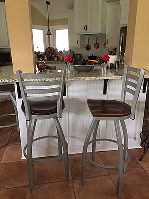 Jackie Swivel Bar Stools in Traditional Kitchen