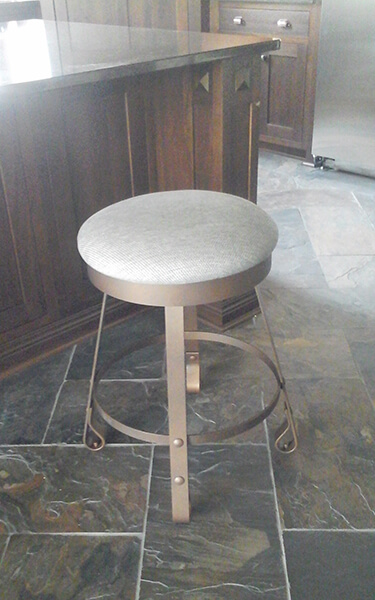 Wesley Allen's Everton Backless Swivel Stool in Customer Kitchen