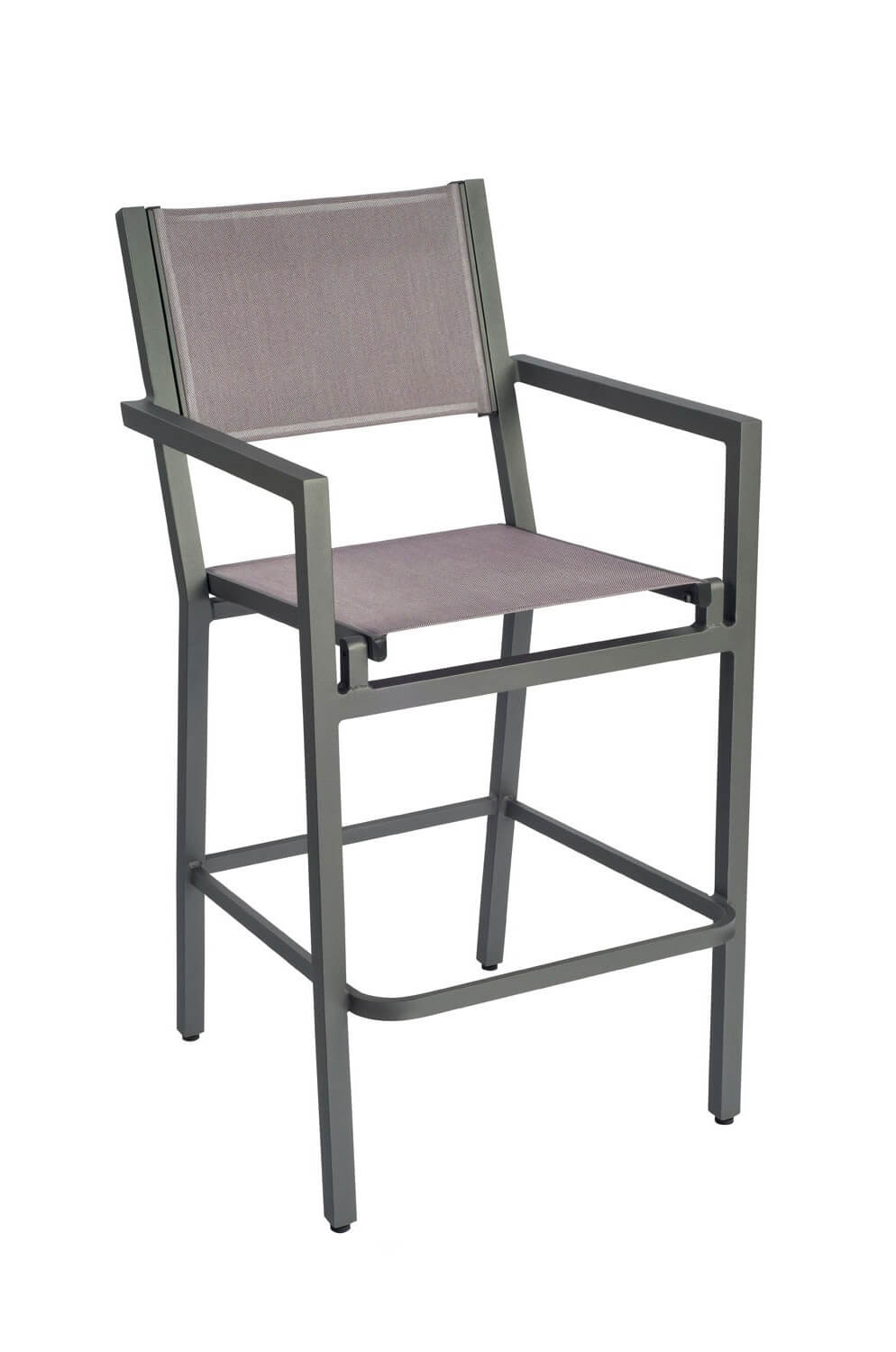 Palm Coast Outdoor Sling Stool with Arms