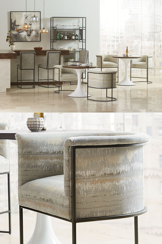 Fantastic Nolita Modern Curved Barrel Counter Stool Inzonedesignstudio Interior Chair Design Inzonedesignstudiocom