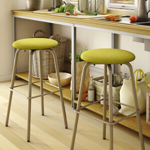 Top Rated Round Backless Bar Stool under $200: Amisco's Button
