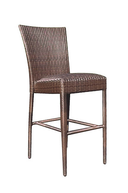 Woodard All Weather Padded Woven Outdoor Stool Bar Or