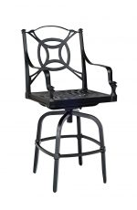 Woodard's Isla Swivel Cast Aluminum Bar Stool with Arms