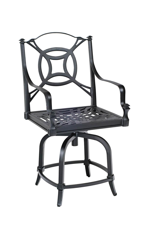 Woodard S Isla Outdoor Aluminum Swivel Stool W Seat
