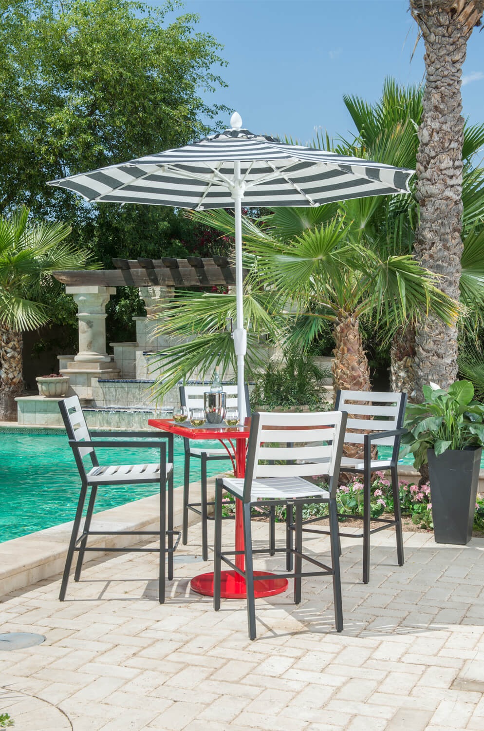 Woodard S Palm Coast Outdoor Slat Back Bar Stool 30