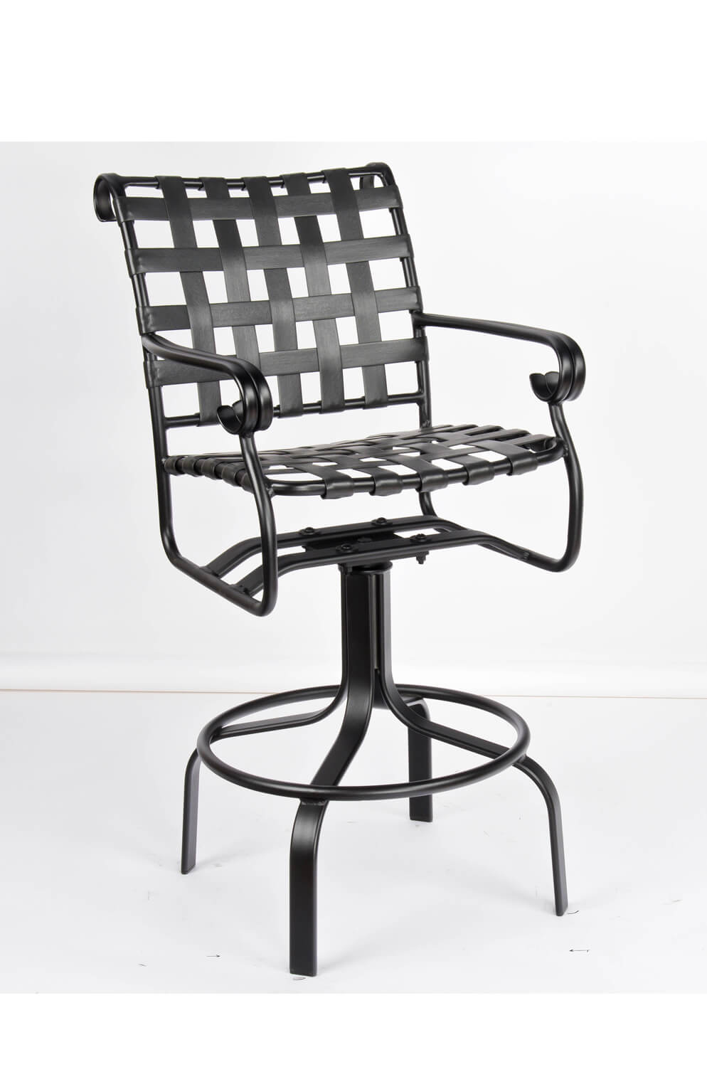 Ramsgate Outdoor Aluminum Swivel Stool with Arms