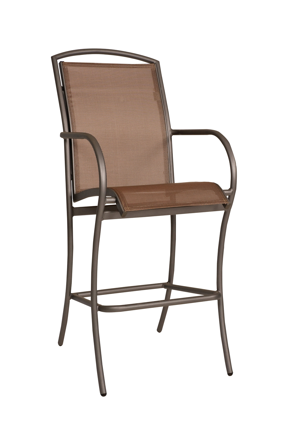Rivington Sling Outdoor Bar Stool with Arms