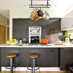 Mount a Hanging Pot Rack in Contemporary Kitchen