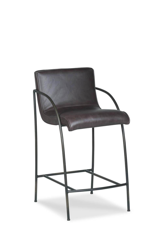 Buy Greta Modern Upholstered Stool W Arms In Bronze Or Nickel