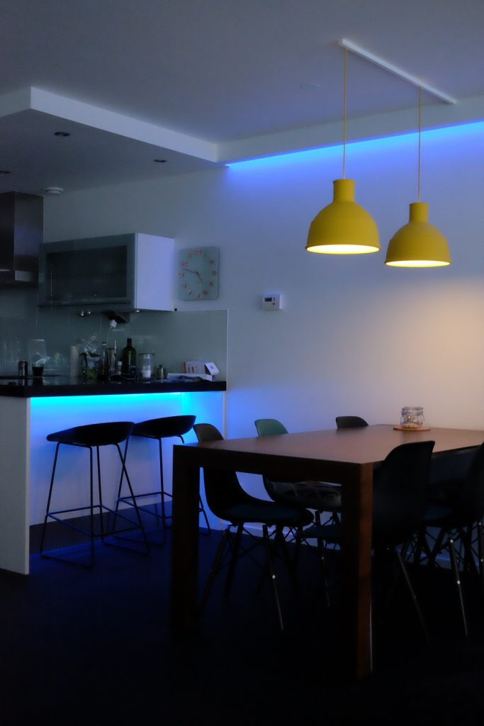 Kitchen Island Idea: Use Philips Light Hue Strips to Create Light
