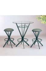 Lisa Furniture's Atlas Backless Swivel Bar Stools with Round Glass Pub Table
