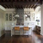 Mount a Hanging Pot Rack in Traditional Big Kitchen