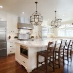 Traditional Kitchen with Pendant Lights