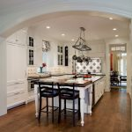 Mount a Hanging Pot Rack in Traditional Kitchen with Arch