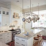 Mount a Hanging Pot Rack in Traditional White Kitchen