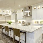 Transitional Kitchen with Pendant Lights