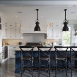 Transitional Kitchen with Footrail
