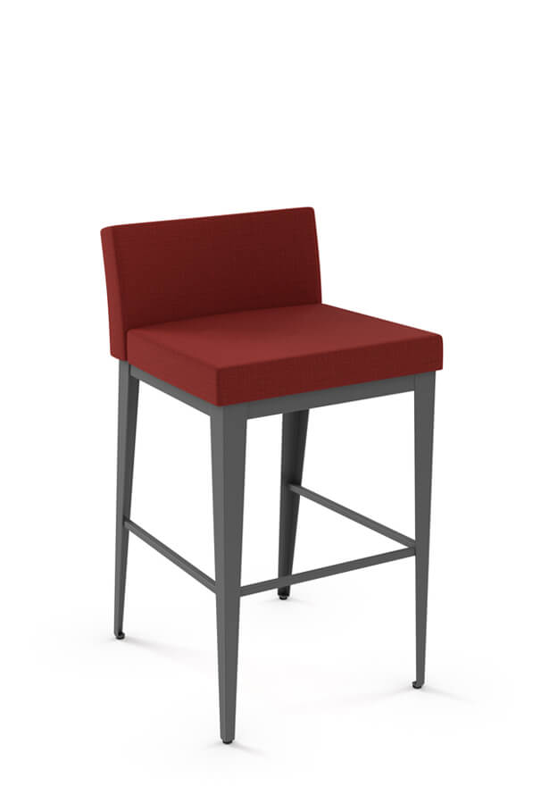 Amisco's Ethan XL Stationary Modern Upholstered Bar Stool with Low Back