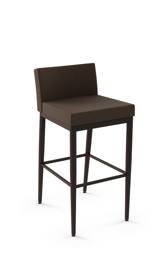 Strange Hanson Modern Stool With Low Back Dailytribune Chair Design For Home Dailytribuneorg