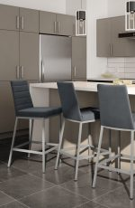 Amisco's Luna Parsons Barstools in Modern, Upscale Kitchen
