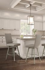 Amisco's Webber Swivel Parsons Barstools in Transitional, Bright Kitchen
