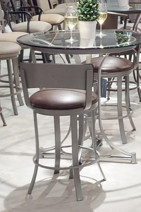 Surprising Bali Swivel Stool With Low Back Ncnpc Chair Design For Home Ncnpcorg