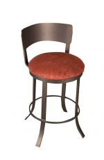Wesley Allen's Baltimore Backless Swivel Bar Stool with Metal Back and Round Seat Cushion