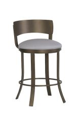 Wesley Allen's Baltimore Bronze Swivel Bar Stool with Low Back