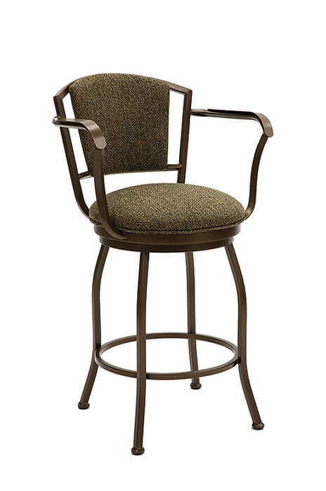 Boise Swivel Stool with Back and Arms