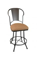 Wesley Allen's Cleveland Swivel Bar Stool with Back and Seat Cushion