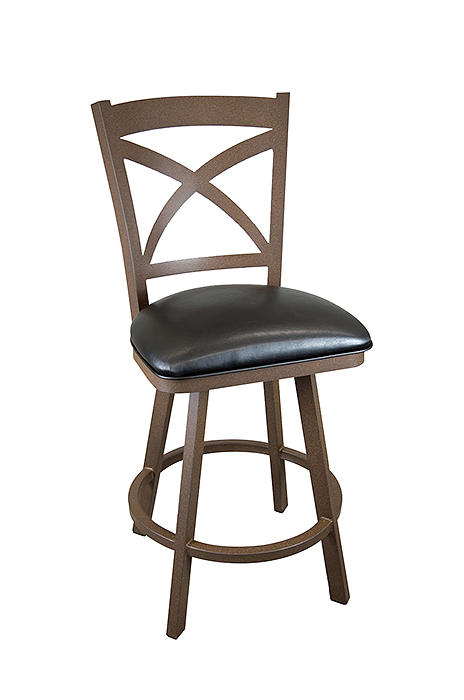 Buy Wesley Allen S Edmonton Swivel Kitchen Stool With Back