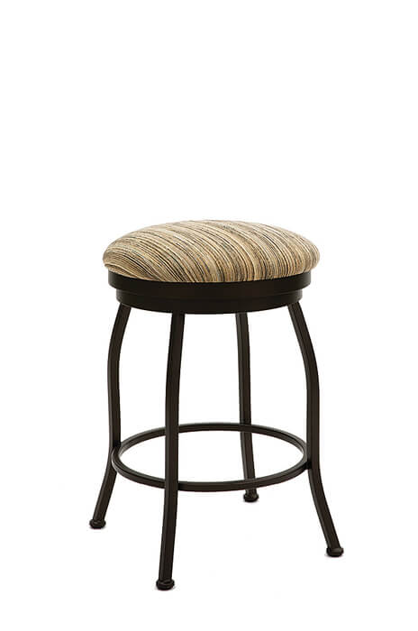 Fresno Backless Swivel Stool with Round Seat Cushion