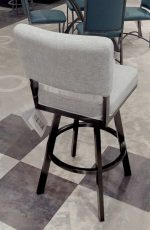 Wesley Allen's Miami Swivel Barstool with Upholstered Back and Thick Seat - Backside View