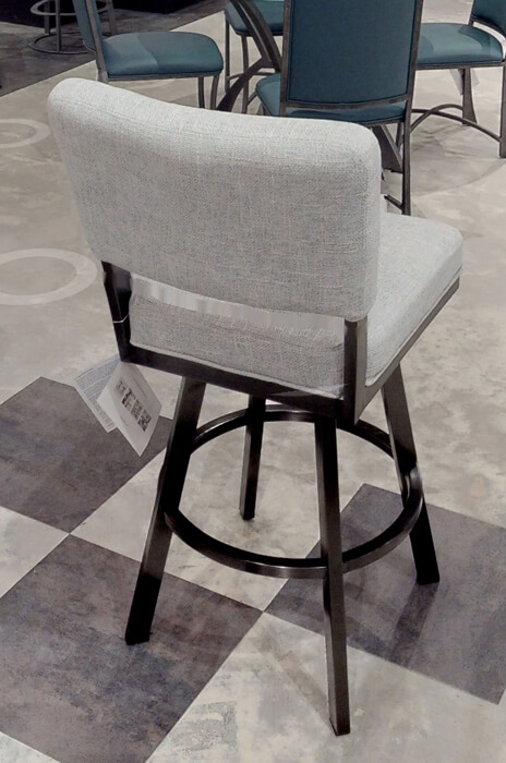 Buy Wesley Allen S Miami Upholstered Swivel Stool With