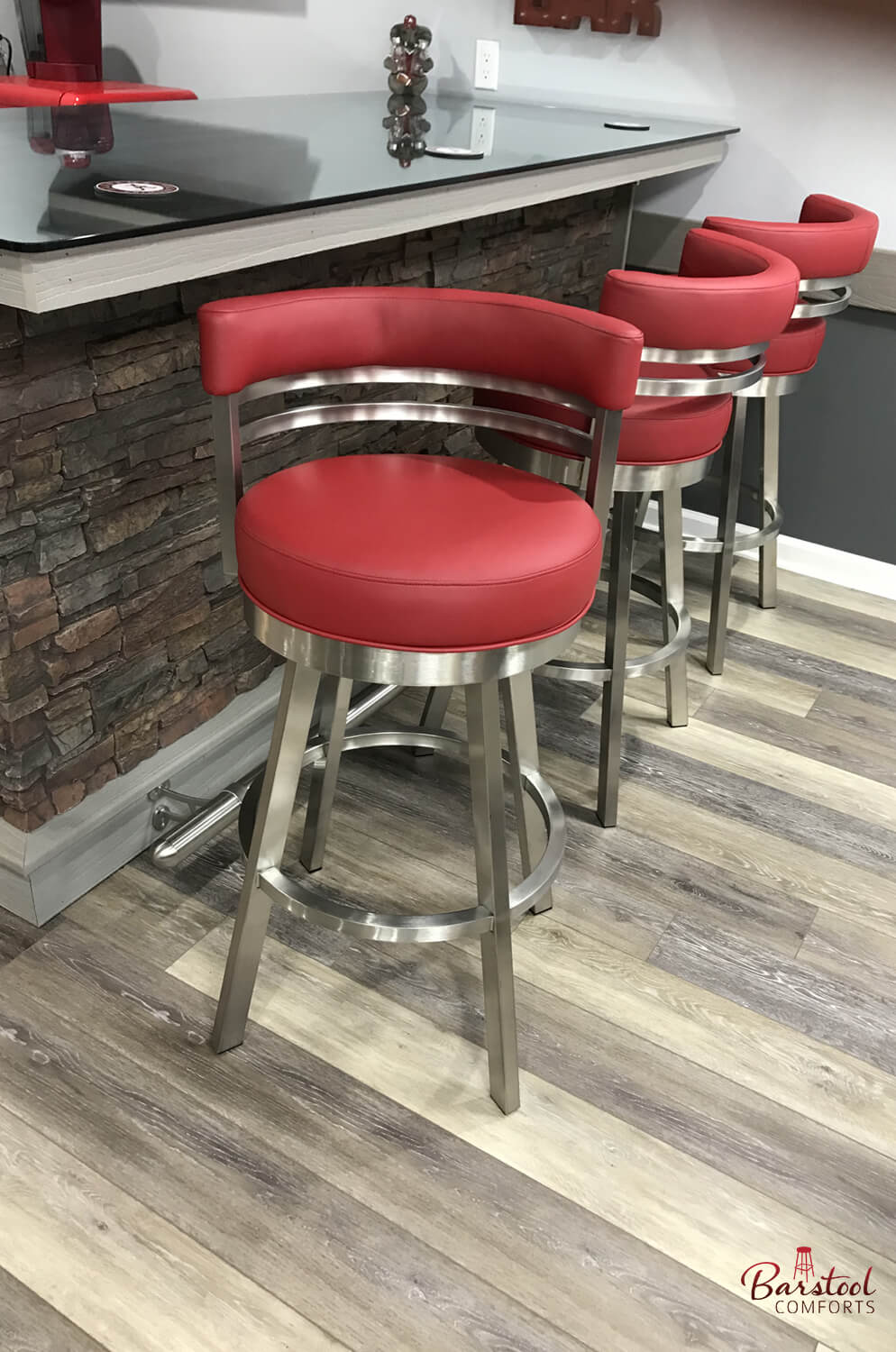 Picture of: Buy Wesley Allen S Miramar Swivel Stool In Stainless Steel Free Shipping