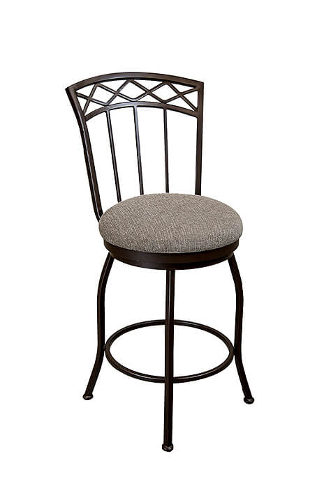 Pittsburg Swivel Stool with Tall Backrest